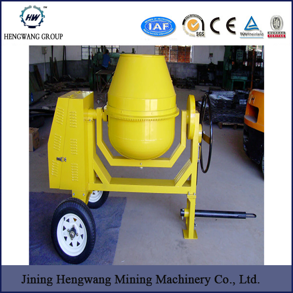 HW-350 Portable Diesel Engine Powered Concrete Mixer for export