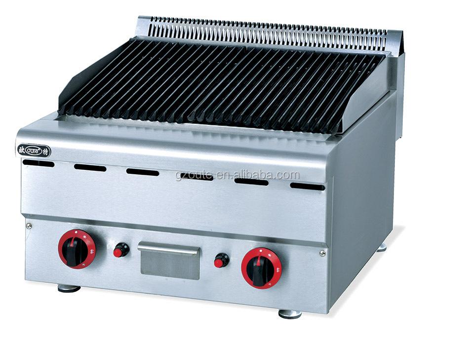 Restaurant Kitchen Grill counter top commercial restaurant kitchen electric lava rock grill