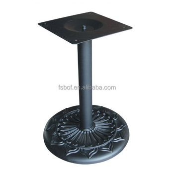 Furniture Fittings Hardware Round Black Metal Leg Frame Table Base For  Marble Table Restaurant Wrought Iron