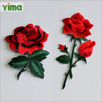 high quality wholesale cheap custom beautiful flower embroidery design patch