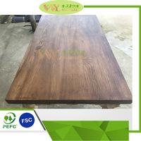 High Quality Black Walnut Stained Ash Worktops/Countertops/Table Tops