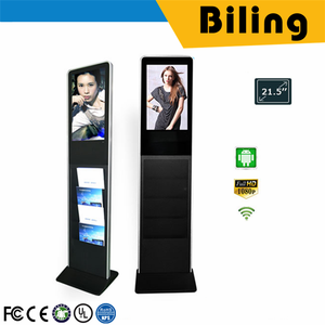 2019 AD Player media player 1080P lcd display advertising 21.5 inch hd lcd touch screen newsstand digital signage
