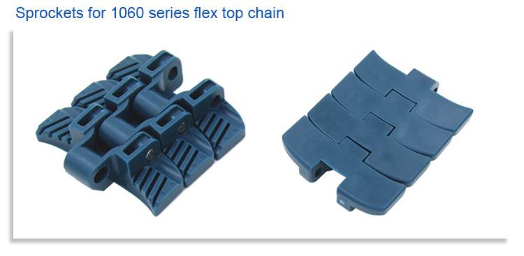 Correia modular plástica superior lisa material dos PP do produto comestível H1060 para a máquina de transporte