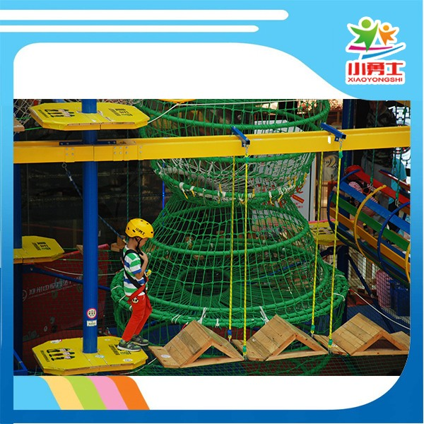 challenge course training ropes garden house for children