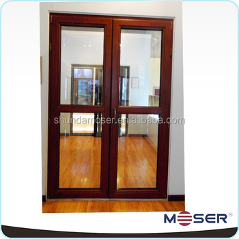 German Style Wood With Aluminium Cladding External Double Hinged