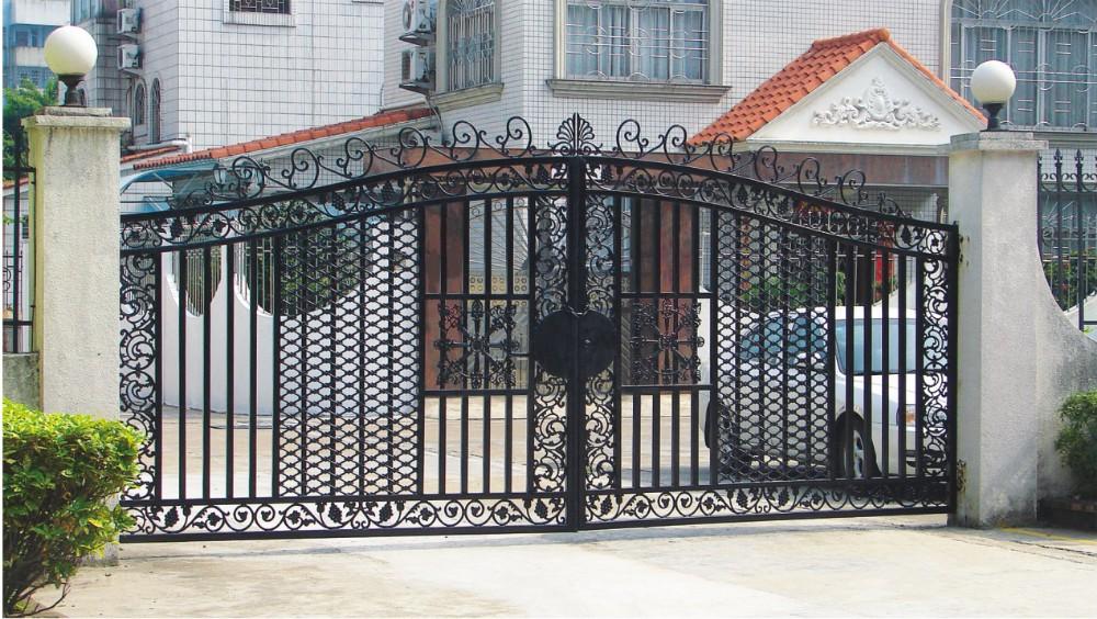 Steel Gate Tubular Latch Deadbolt Black Door Handles Lock
