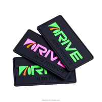 Top quality custom embossed logo soft rubber 3d pvc patch for garment