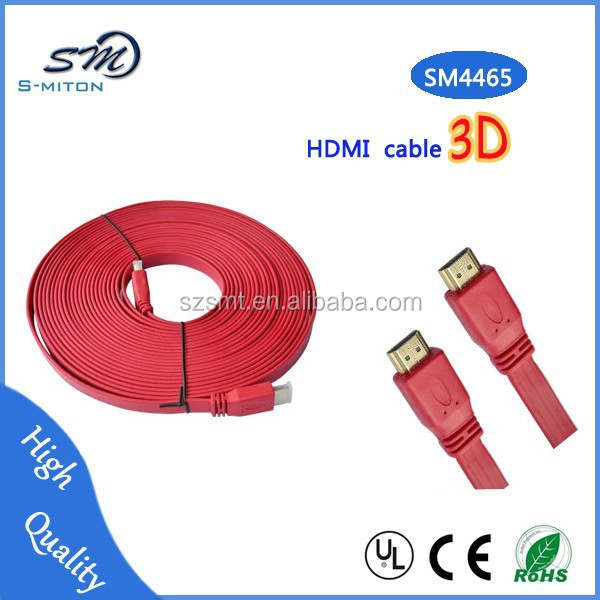 wholesale flat HDMI cable gold plated male to male 1.5m 1.8m 2m
