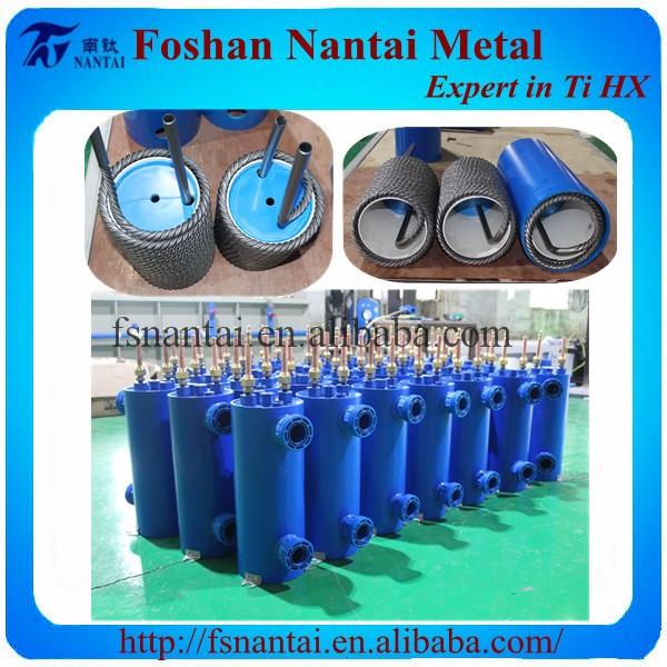 Air To Water Shell Tube Heat Exchanger Condenser