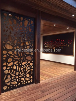 Customized Interior Decoration Laser Cut Metal Screen Room Divider For