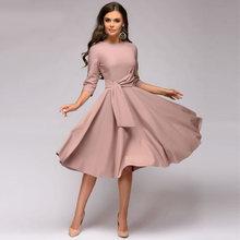 Женское платье с длинным рукавом ICHOIX, Осеннее/зимнее платье с длинным рукавом, 2020(Китай)