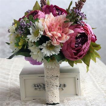 Kunstliche Blumen Schaum Gross Hortensien Rot Rose Blume Haufen Braut