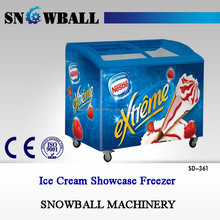 Commercial curved glass door chest freezer ice cream freezer commercial showcase display freezer price