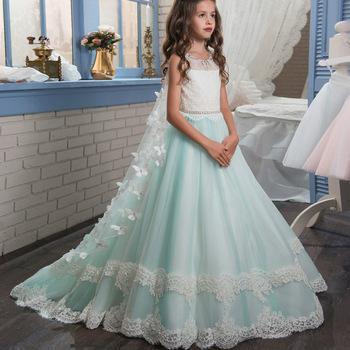 New Style Flower Girl Child Dress Diamante Bowknot Girl Wedding Dress Ball Gown Buy Flower Girl Dress Young Girls Ball Gowns Girl Wedding Dress