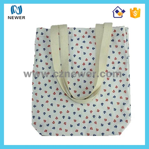 Pretty durable reusable design standard size cotton tote bag shoping bag