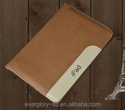 Hot! New Alibaba China High Quality Factory Price Real Cow Leather Smart Cover Case For APPLE <strong>iPad</strong> 2/3/4