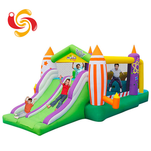 Wholesale oxford polyster small home Inflatable house Bouncer with slide, indoor Inflatable Bouncy castle