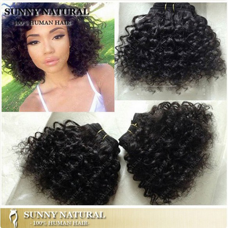12 Colors Cheap Short 8 Quot Kinky Curly Brazilian Hair Weave