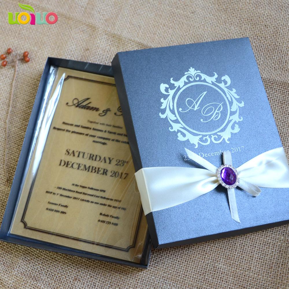 Acrylic Royal Crucifix Design Wedding Invitation Card Laser Cut Fashion Christening With Box