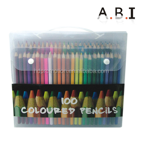 Hot Sales wood PVC bag colored pencils 12