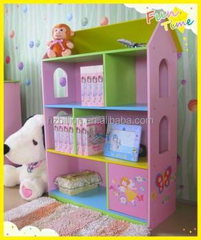 3 12 Years Fairy Wooden Children Dollhouse Bookcase Kids Furniture