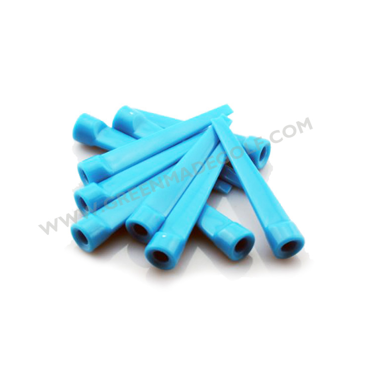 Hot sale blue color plastic wedge tee flat golf tees