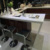 Modern home portable bar counter design acrylic restaurant i shaped long bar table and chairs
