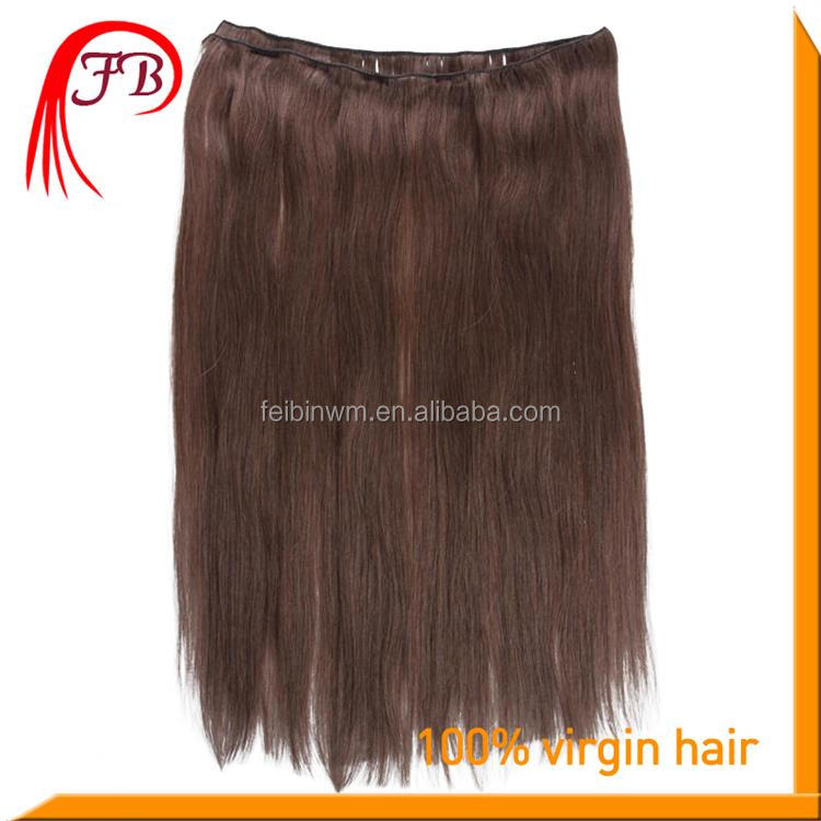 Top Quality 7A Human Virgin Color #2 Straight Hair Weft Real Virgin Peruvian Hair