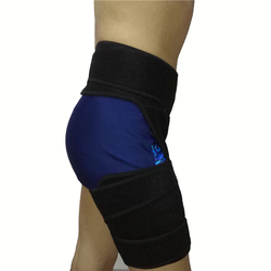 Compression Wrap for Groin Hip Thigh Hamstring Ajustable Waist Support Brace with Leg Sleeve Unisex Sports Protection Strap