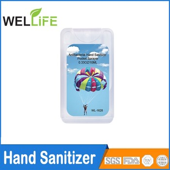 Custom Promotional 67 Oz Credit Card Hand Sanitizer Spray