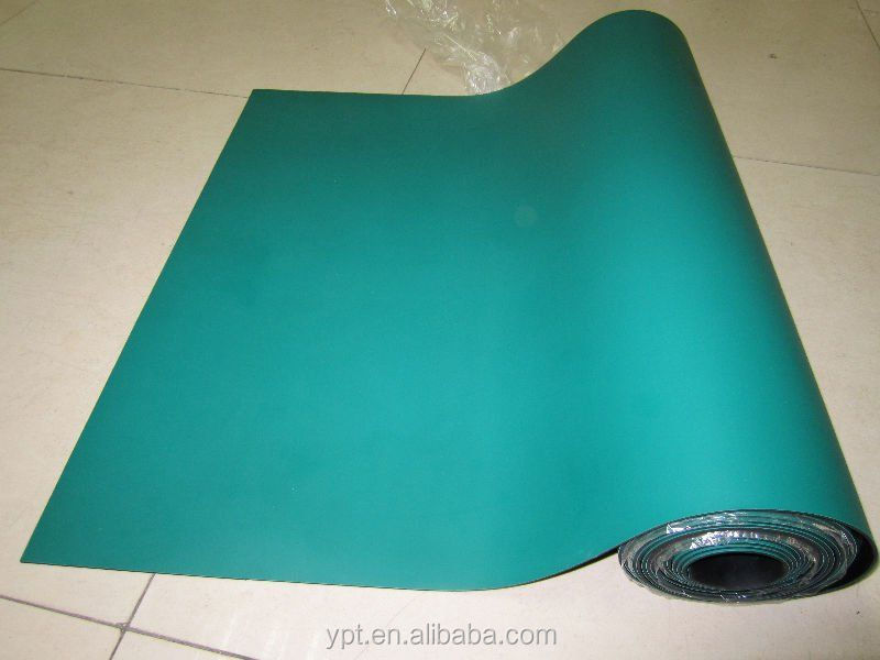 ESD cleanroom green rubber table mat/antistatic Rubber mat/Antistatic Green Pad