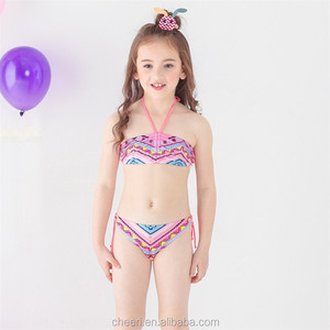 Kids bikini 2018 girls swimwear bathing sets swimwear bathing set tassel swimsuit children bikinis
