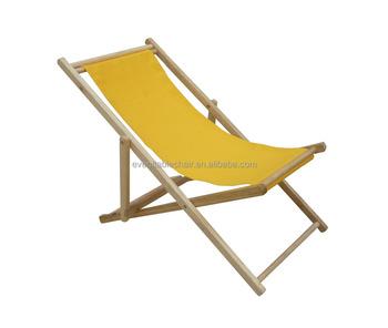 Hot Outdoor Furniture Wooden Foldable Reclining Beach Chair