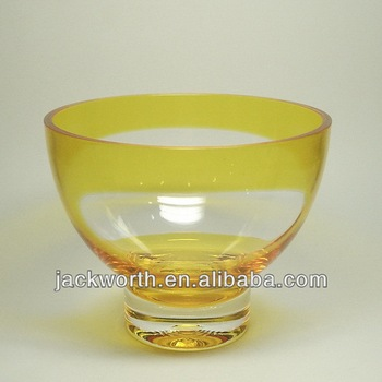 Two color plastic salad bowl