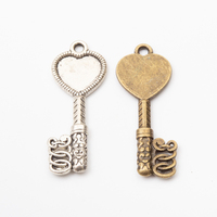 fashion Jewelry key charm pendant for Necklace making