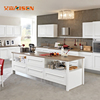 White shaker style solid wood kitchen cabinet