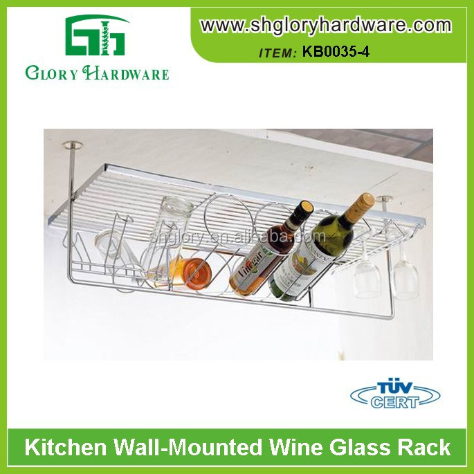 kitchen goblet storage rack, wine glass rack, hanging glass cup holder