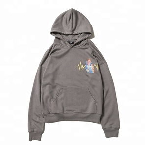 Hot sales custom heart design printing mens' Pullover Hoodies