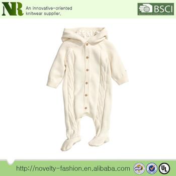 d968b62c78b5 100% Organic Merino Wool Baby Romper
