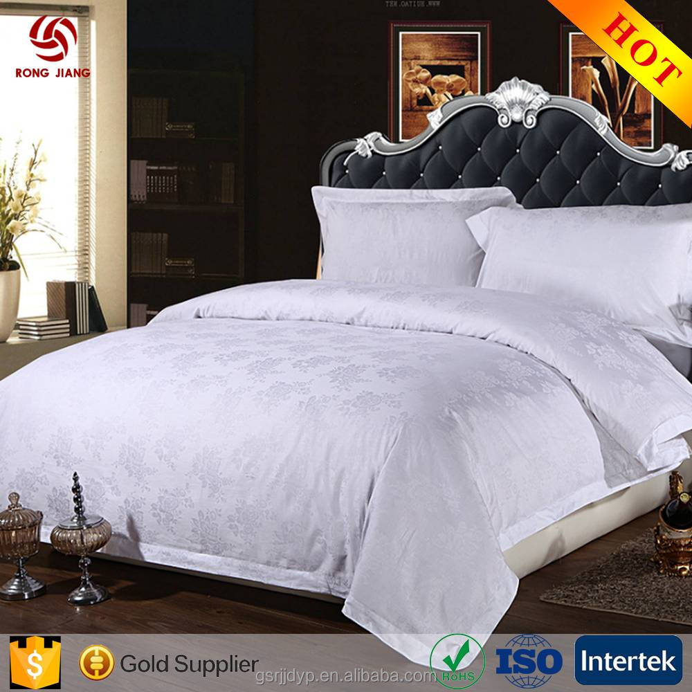 Manufacturer wholesale home textile 4 piece pure cotton fabrics bedspread set/duvet bedding sets