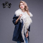 Outdoor Winter Coat Lamb Fur Parka Jacket Womens With Fashion Style