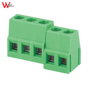 2poles 3poles 2-way 3-way PCB copper terminal block connector screw terminals WJ128R-5.0/5.08