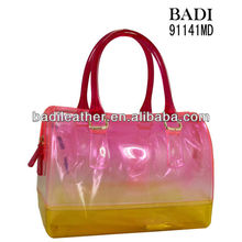 2016 red jelly tote bag for women jelly bag