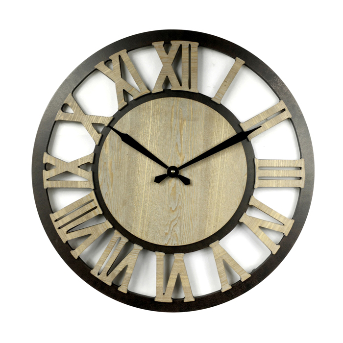 Rustic Style Mechanical Style Clock Display Wood Wall Clock Buy