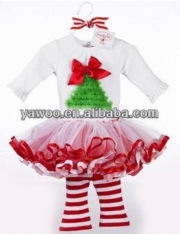8ac66df1e8c5a Nouveau Tenue De Noël Pettiskirt Costume De Noël Robe 2 Pc Bébé Fille  Tenues Infantile Tutu Jupe Legging Pantalon De Noël Vêtements Ensemble -  Buy Costume ...