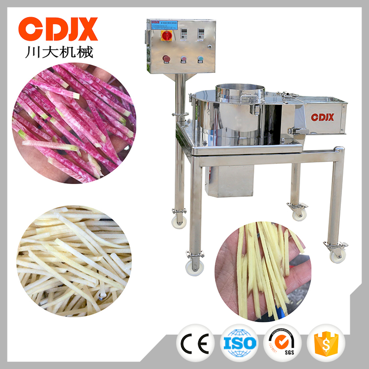 High capacity easy operation electric fruit vegetable cutter slicer