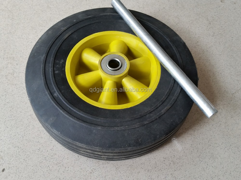 "8""x2.5"" high quality good price plastic rim rubber powder wheel"
