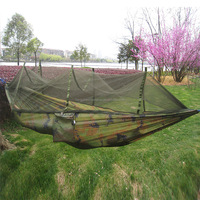 Hot Sale Parachute Fabric 2 Person Military Air Tent With Anti Mosquito Net,CZD-003 2 Person Camouflage Hanging Tree Tent
