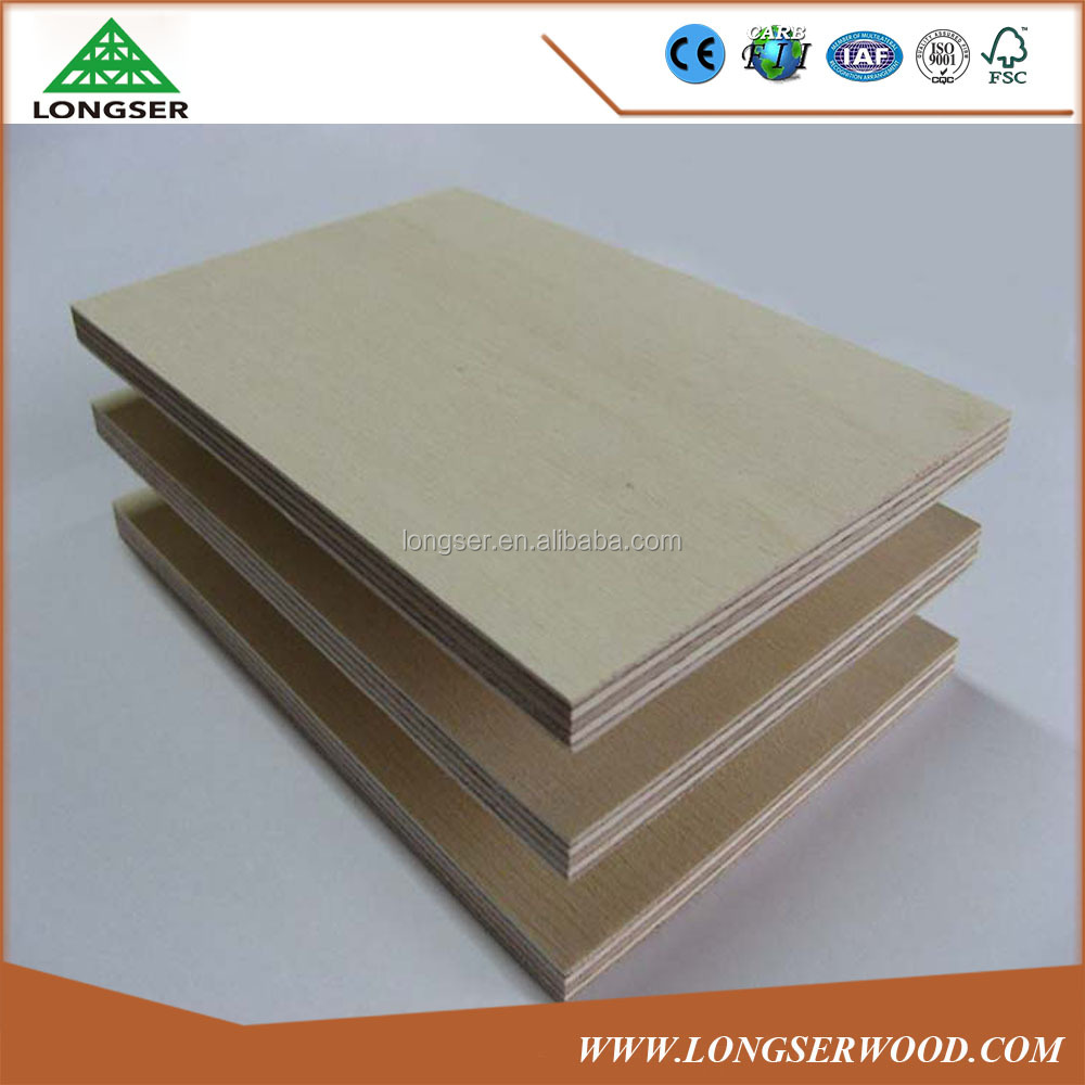 Furniture Grade Laminated White Birch Faced Plywood