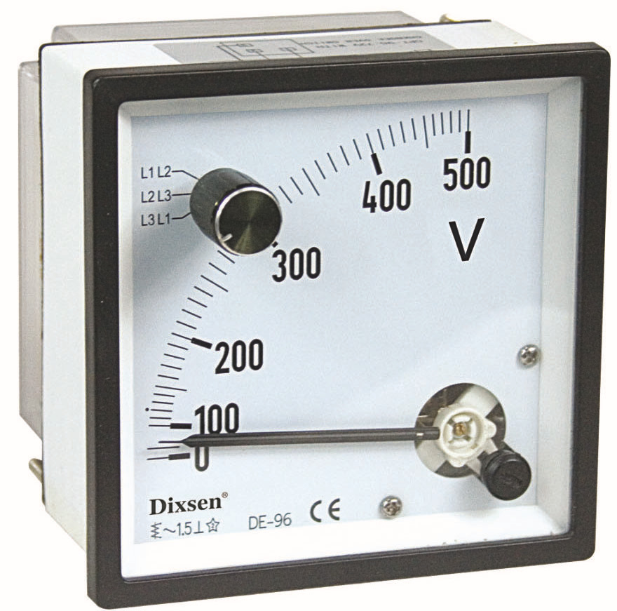 3 Phase 3 Wire Ac Voltmeter With Change-over Switch